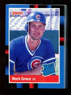 52 ct lot - 1988 donruss #40 mark grace rc rookie cards mint chicago cubs from $50.99