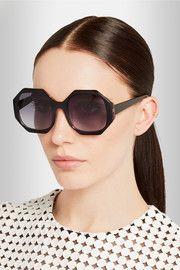Lane octagon-frame acetate sunglasses
