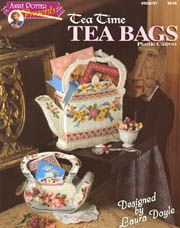 Tea Time Tea Bags ~ Plastic Canvas