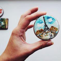 Paris handmade painted cookie