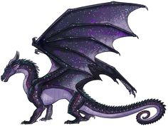 Kamaria (Kah-mar-ia) is a shadow dragon with wings like the night sky. Although dark and dangerous, she is found beautiful by her partner Astra