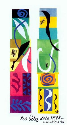 Matisse - The master of color with his stunning paper cutouts #matisse #color