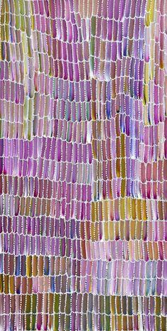 Australian Indigenous Aboriginal - Jeannie Mills Pwerle - hues