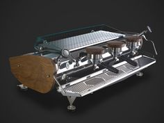 La Marzocco Mistral.  One day, you and I will be together. <3 http://lamarzoccousa.files.wordpress.com/2009/12/heart-wood-mistral.jpg