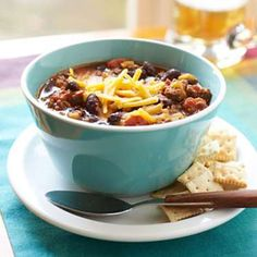 Look no further for the ultimate classic, easy chili recipe. Made in a slow-cooker for simple a week... - Myrecipes