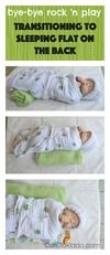 Tips for transitioning baby from sleeping in baby gear to sleeping flat on the back. CanDo Kiddo