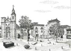 Plaza San Felipe de Zaragoza a pluma según Miguel Brunet Castélls
