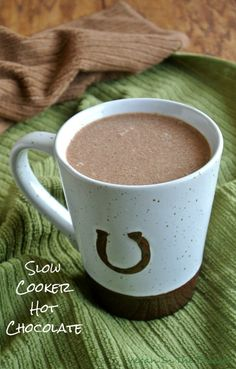 Slow Cooker Hot Chocolate goes in the crock pot, uses easy homemade chocolate syrup, has peanut butter (yes!), can be drank hot first thing in the morning and . can be drank cold. Hoping to find a replacement to the Soy Milk Powder! Crock Pot Freezer, Crock Pot Slow Cooker, Crock Pot Cooking, Slow Cooker Recipes, Crockpot Recipes, Vegan Recipes, Cooking Recipes, Hot Chocolate Recipe Vegan, Slow Cooker Hot Chocolate Recipe
