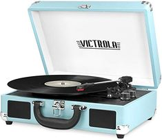 Victrola Vintage 3-Speed Bluetooth Portable Suitcase Record Player with Built-in Speakers | Upgraded Turntable Audio Sound| Includes Extra Stylus | Turquoise, Model Number: VSC-550BT-TQ Record Player Reviews, Vinyl Record Player, Record Players, Vinyl Records, Stereo Turntable, Stereo Speakers, Suitcase Record Player, Best Holiday Deals, Bluetooth