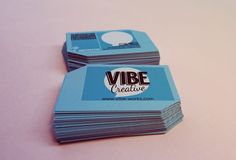 Vibe Creative Business Cards by Kyomi Martyn, via Behance. #businesscard #graphic #design