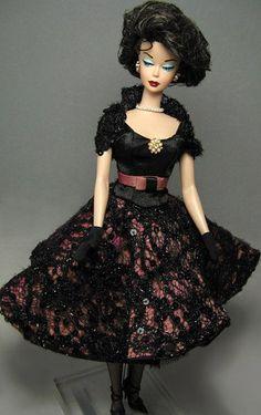 """Nuits en Noir"" Bubble Cut OOAK Vintage Silkstone Barbie   Flickr - Photo Sharing!"