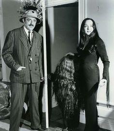John Astin as Gomez and Carolyn Jones as Morticia in The Addams Family