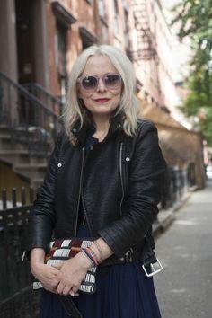 Susan Joy.  Cool shades and jacket.