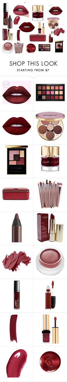 """""""Dark temptation"""" by terracoquetta on Polyvore featuring beauty, Huda Beauty, Lime Crime, tarte, Yves Saint Laurent, Smith & Cult, Dolce&Gabbana, Urban Decay, Clarins and Bobbi Brown Cosmetics"""