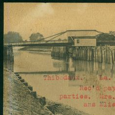 1907 Bayou Lafourche, Thibodaux, La :: LSU Libraries Postcard Collections