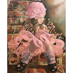 Roxana Gonzales @artofadreamer.rg Artofadreamer.rg 24x36 Easter Morning #oilpainting #Easter #littlegirl #pink #... | - Pictigar