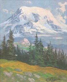 fred oldfield paintings for sale   0710-0181 FRED OLDFIELD OIL ON MASONITE (Washington, born 1918) Mount ...