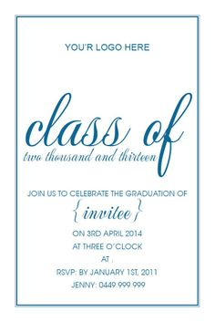 111 best graduationformal invitations images on pinterest graduating class card w magnet in midblue invitation impressive invitations stopboris Images