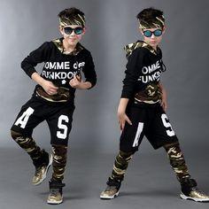 >> Click to Buy << 2016 children clothing set Autumn kids  suits False two Hip Hop harem pants & Camouflage Patchwork sweatshirt army twinset #Affiliate