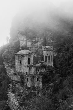 Erice - Torretta Pepoli,    The Tower And The Mist by ~bluesman76