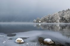 Popular on 500px : Icy Morning Lake Bohinj by angelainokchong