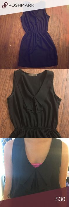 The PERFECT lbd (never worn). Really cute little black dress. Size small. Nice detail around the neckline. Tags: lush. Lush Dresses Mini
