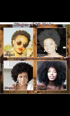 Stages of 4b hair