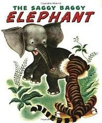 """Read The Saggy Baggy Elephant (Big Little Golden Book) baby book by Kathryn Jackson . After a parrot makes fun of Sooki's big ears, long nose, and wrinkled skin, the """"saggy baggy"""" elephant isn't too sure o Little Elephant, Elephant Book, Little Golden Books, Little Puppies, Vintage Children's Books, Vintage Items, Vintage Kids, Vintage Stuff, Vintage Prints"""
