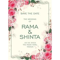 Roses, Wedding Card, Flower, Pink Roses, flower incitation,Floral Wedding Invitation,Floral Invitation,Floral, Wedding Card, Wedding Invitation, Undangan, Undangan Pernikahan,Invitation wedding,Invitation,wedding