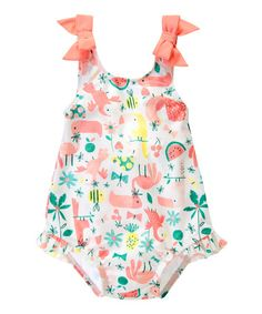 Look what I found on #zulily! White Toucan Bow One-Piece - Infant by Gymboree #zulilyfinds