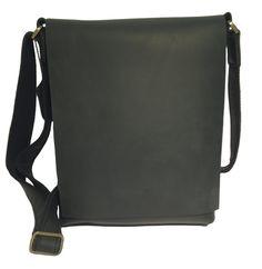 Black Leather iPad Bag #bag #ipad #leather