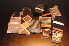Algunos de los calcetines que sorteamos entre nuestros fans Facebook    Some of the socks we award to our Fans on Facebook.