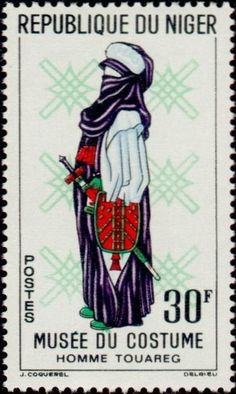 Stamp%3A%20Tuareg%20Men%20(Niger)%20(Costume%20Museum)%20Mi%3ANE%2049%2CYt%3ANE%20131%20%23colnect%20%23collection%20%23stamps