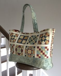 Quilt Kit Essential Tote   Size: 12'' x'19'' by Around The Bobbin