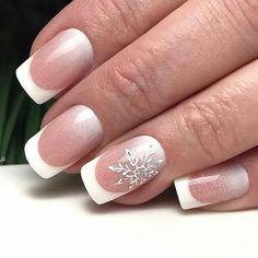 60 Simple Acrylic Coffin Nails Designs Ideas for 2019 Xmas Nails, Christmas Nails, French Nails, Coffin Nails Long, Toe Nail Designs, Bridal Nails, Nagel Gel, Green Nails, Winter Nails