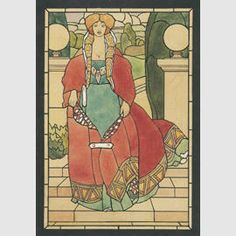 Donna con il mantello rosso / Fumoir / Percorso per sale - Musei di Villa Torlonia