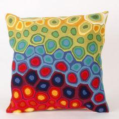 Liora Manne Pop Swirl Square Indoor/Outdoor Pillow in Multi