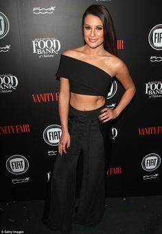 Lea Michele flashes her toned abs at Young Hollywood event | Daily Mail Online