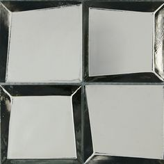 Tungsten Glass - Crossville Inc Tile - Distinctly American. Mirror Tiles, Glass Mosaic Tiles, Tile Mosaics, Crossville Tile, Bath Remodel, Backsplash, Master Bathroom, Stained Glass, Art Deco