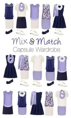 """""""Capsule Wardrobe: Navy and Lavender"""" by mary-grace-see on Polyvore featuring Paule Ka, New Look, Brave Soul, Dorothy Perkins, ..,MERCI, Le Nom, Jacques Vert, Lands' End, Manon Baptiste and Burberry"""