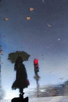 Rain reflection photos by Manuel Plantin - Yodamanu