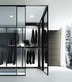 Crisp lighting in closet