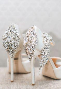 wedding shoes idea; featured photographer: Blush Wedding Photography