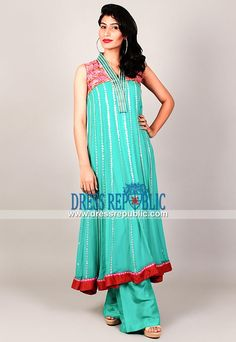 Turquoise Dress Collection for Wedding - Pakistani Party wear