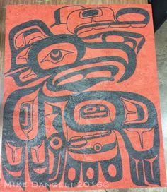 "Eagle  18"" X 22"" done!!  #alaskanative #aboriginal #aboriginalart #art #bcfirstnation #design  #firstnation #firstnation #houseofculture #mikedangeli #nisgaa #nisgaaart #painting #panel  #tsimshian #tsimshianart #vancity #vancouver #vancouverbc #vancouver_bc #westcoast #westcoastart"