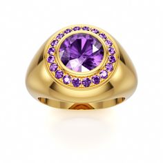 Amethyst Gold Ring, Colors of Eden