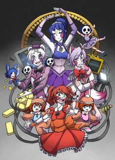 Welcome to Circus Baby's Pizza! by Sapphire-M on DeviantArt - Marni Durke Ballora Fnaf, Fnaf Sl, Anime Fnaf, Fnaf Drawings, Cute Drawings, Sister Location Baby, Animatronic Fnaf, Baby Pizza, Art Kawaii