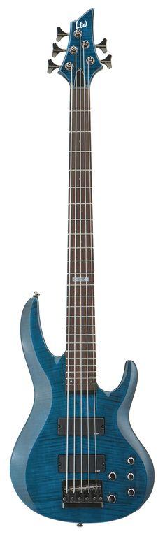 ESP LTD B-155DX B Series Bass Guitar - See Thru Blue Finish