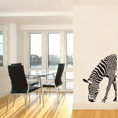 Wall Art Decal  Zebra Wall Decor, Wall Art, Decorating Your Home, Decals, Trending Outfits, Etsy, Design, Wall Hanging Decor, Tags