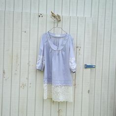romantic dress / Funky Eco Dress / Ranch Style Lilac от CreoleSha